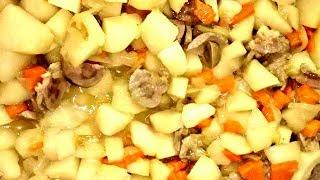 Почки с овощами! Вкусно и полезно!