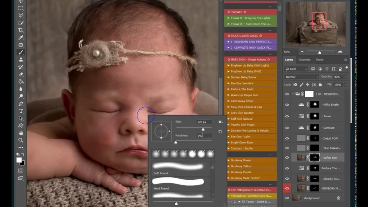The Signature Newborn Photoshop Action Collection | Best