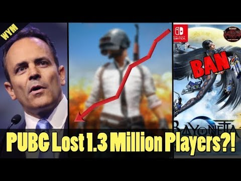 Bayonetta Should Be Banned, Governor Blames Video Games for Shootings, PUBG Losing Players