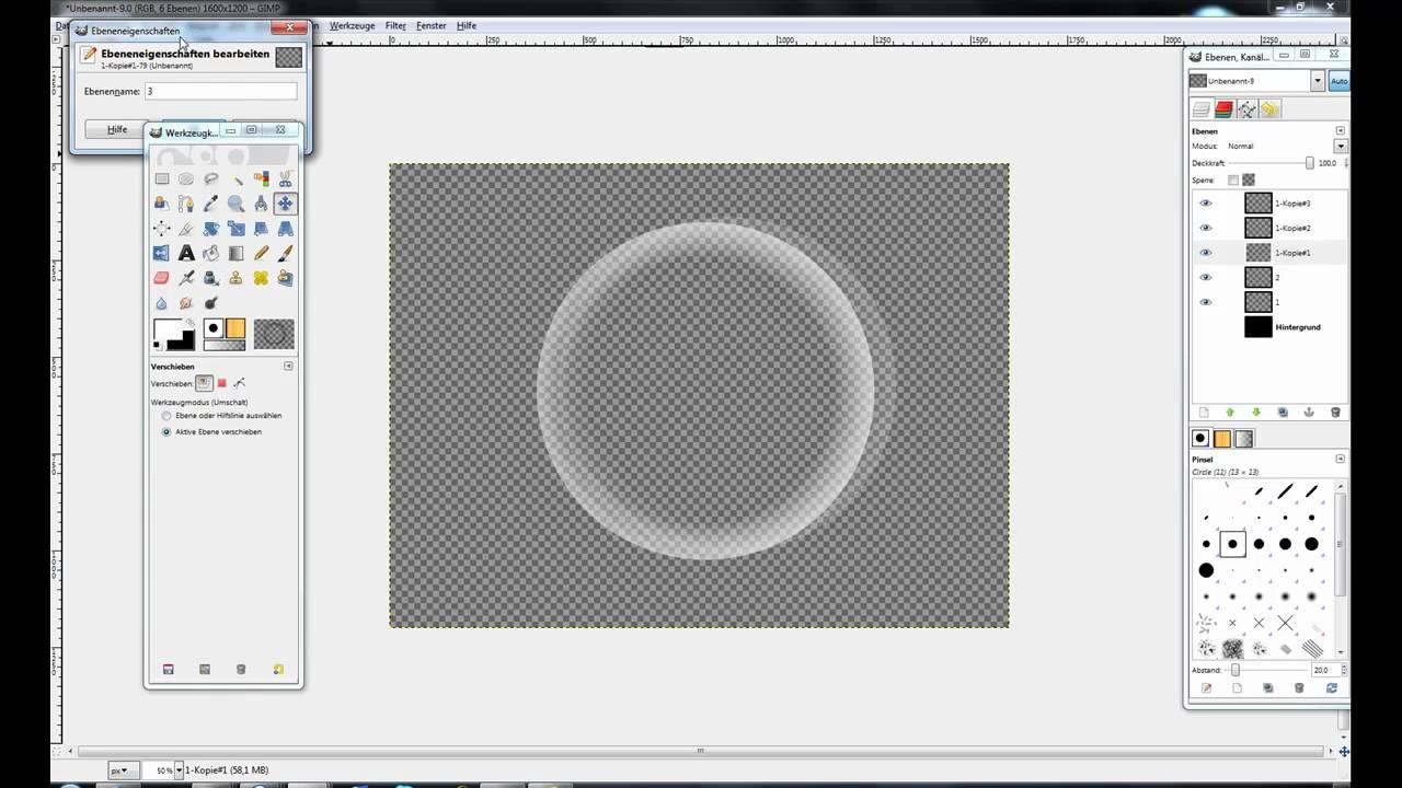 Gimp Kreis Zeichnen