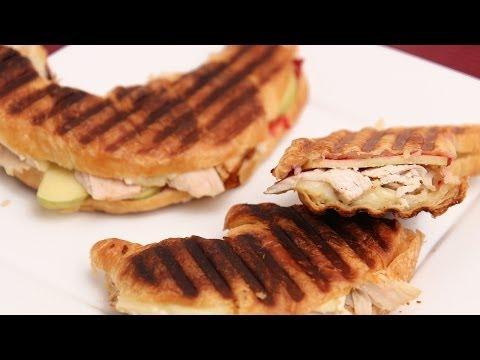 Turkey & Cranberry Croissant Panini Recipe - Laura Vitale - Laura in the Kitchen Episode 681