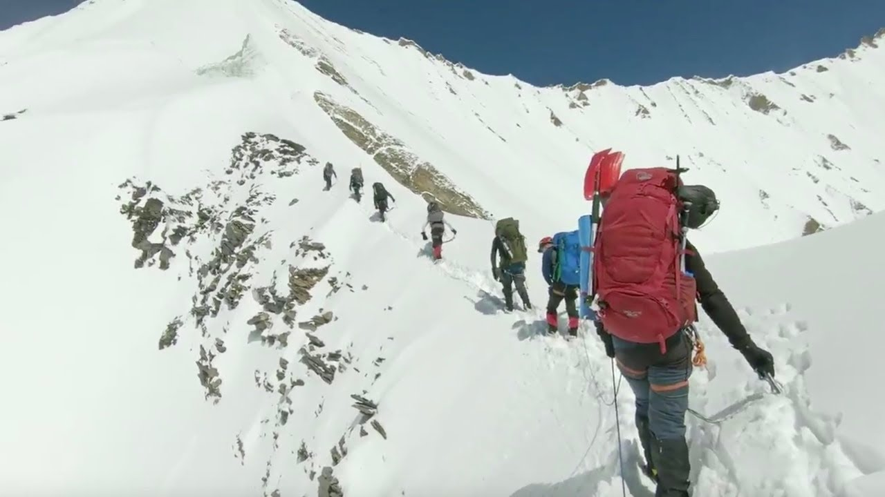 Download Last moments of Himalayan climbers before avalanche
