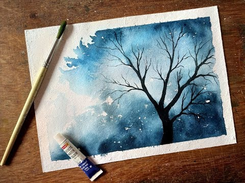 How to paint a simple tree | Watercolor painting for beginners
