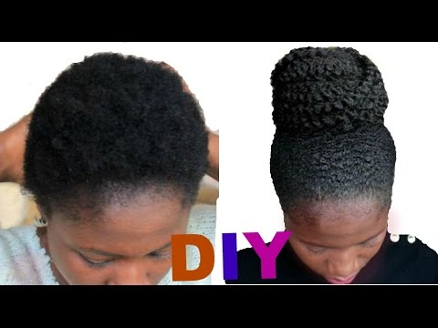 How To Style Short Natural Hair C Easy Diy YouTube - Diy natural hairstyle