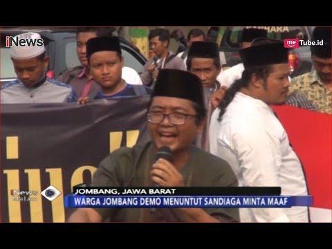 Sandiaga Uno Langkahi Makam Ulama Besar, Warga Jombang Gelar Unjuk Rasa - iNews Malam 12/11