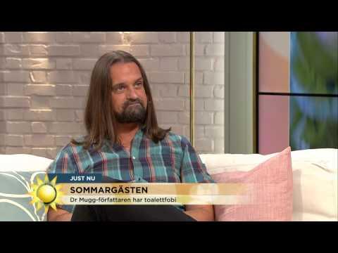 Toalettskräck, humor och livet före och efter testikelcancern - Nyhetsmorgon (TV4)