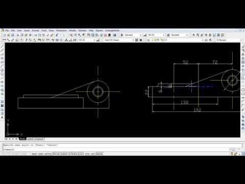 "How to Draw "" Tie Rod "" on Autocad - Meca 2017 HD"