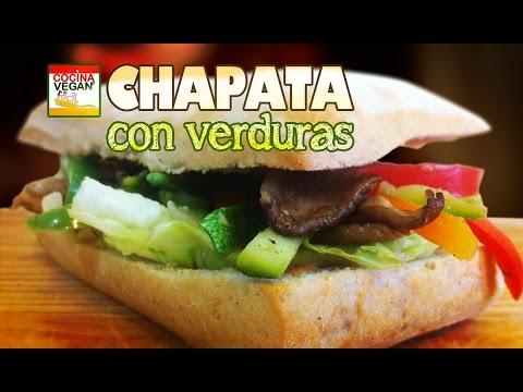 Chapata con verduras  Cocina Vegan Fcil  YouTube