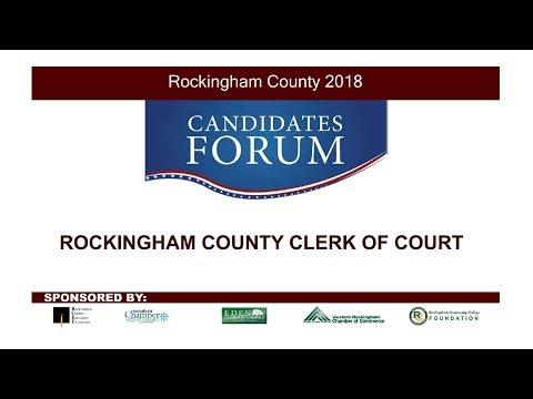 2018 Candidates Forum - Rockingham County Clerk Of Superior Court - 9/24/18