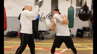 WAR GYPSY! - BILLY JOE SAUNDERS IN CAMP - SMASHING THE PADS WITH TRAINER DOMINIC INGLE