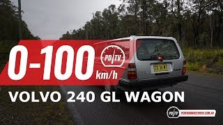 1989 Volvo 240 GL Wagon 0-100km/h & engine sound (auto)