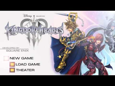Kingdom Hearts 3 Title Menu Concept