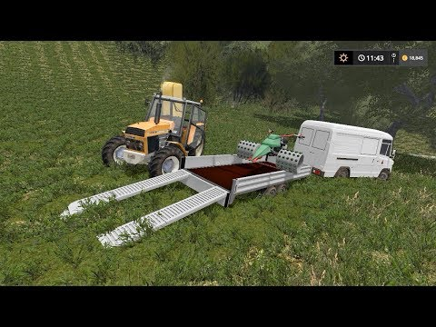 Mowing grass and planting canola | Small Farm | Farming Simu
