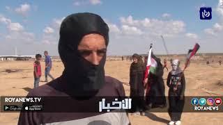 الغزيون يرفعون شعار عائدون رغم أنفك يا ترمب - (7-9-2018)