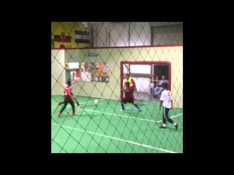 Viviana Albor Playing Indoor Soccer