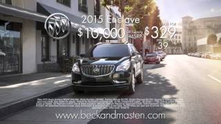 25% off MSRP of Buick models only at Beck & Masten