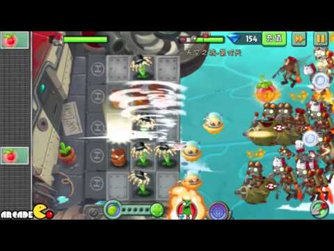 Plants Vs Zombies 2: Sky Castle World Mini Game Air Force Sky War! (PVZ 2 China) Part 3 HD