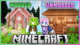 Modded vs Vanilla Minecraft House Makeover with LDShadowlady!