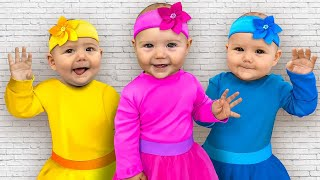 Sasha and Baby Pretend to be Superheroes and Help Their Friends. Funny Kids Adventure