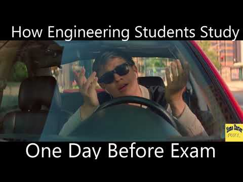 How Engineering Students Study One Night Before Exam