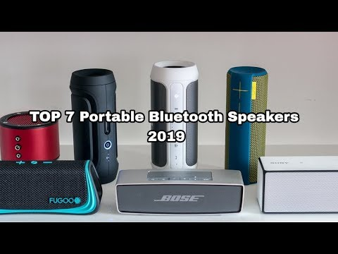 TOP 7 Portable Bluetooth Speaker 2019
