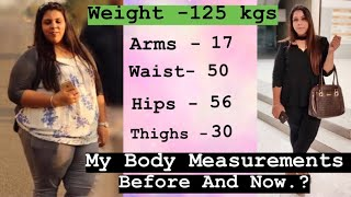 Weight Loss Journey | Before After Body Measurement | Drastic Change | Fitness And Lifestyle Channel