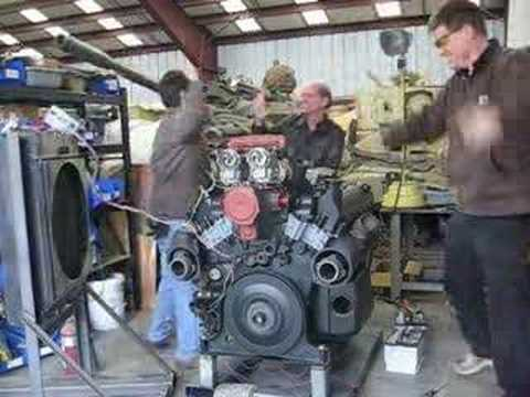 Panther Tank Maybach engine test