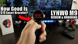 LYNWO M9: $19 Round Smart Bracelet - REVIEW, Unboxing & Connect To App