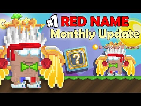My New Dr. Red Name + Monthly Update! (Part 1)   GrowTopia