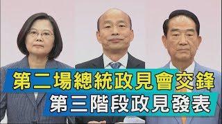【TVBS新聞精華】第二場總統政見會交鋒 第三階段政見發表