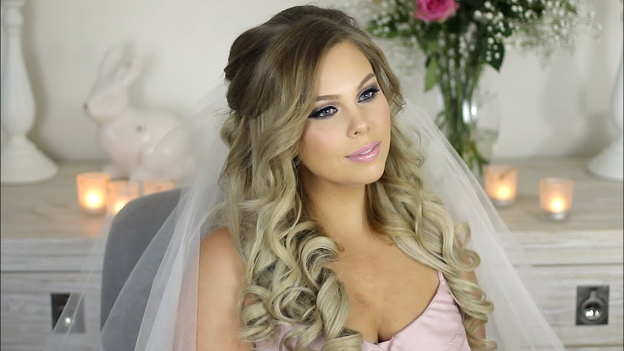 My Wedding Hair Tutorial Princess Hair Style - YouTube