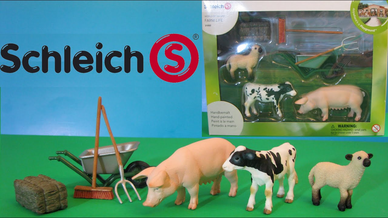 Schleich Care Set Farm Life Pig Cow Sheep Review Animal Toys