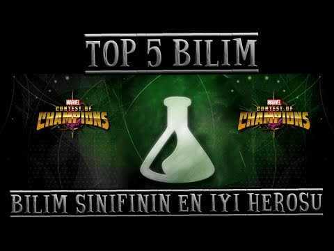 TOP 5 - BİLİM SINIFININ EN İYİ HEROSU - MCOC TOP 5 SCIENCE