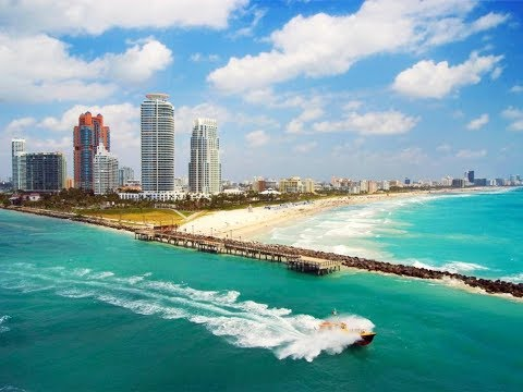 Morning View of Miami Beach of Atlantic Ocean !!