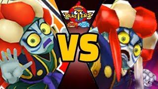 4 KABUKING vs ULTRA KABUKING in Yo-kai Watch Blasters (Theme Team)