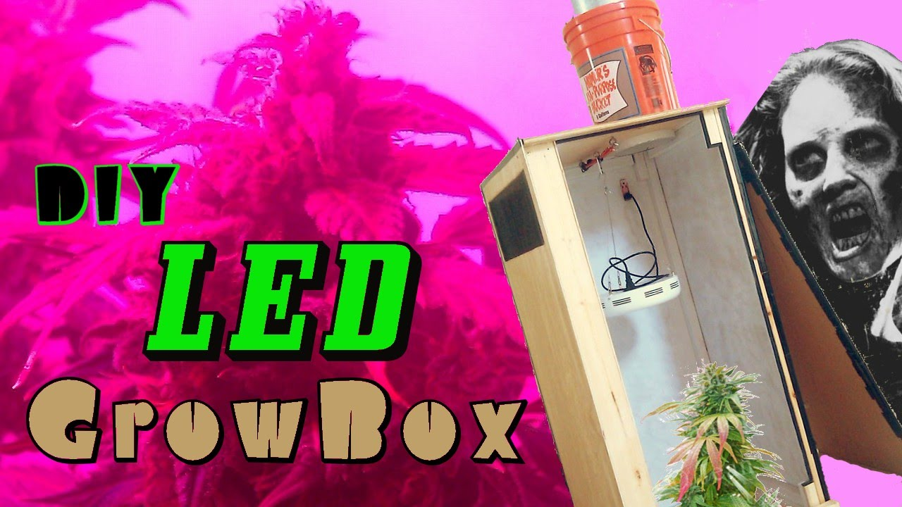 diy led grow box w carbon filter build instructions overview youtube. Black Bedroom Furniture Sets. Home Design Ideas