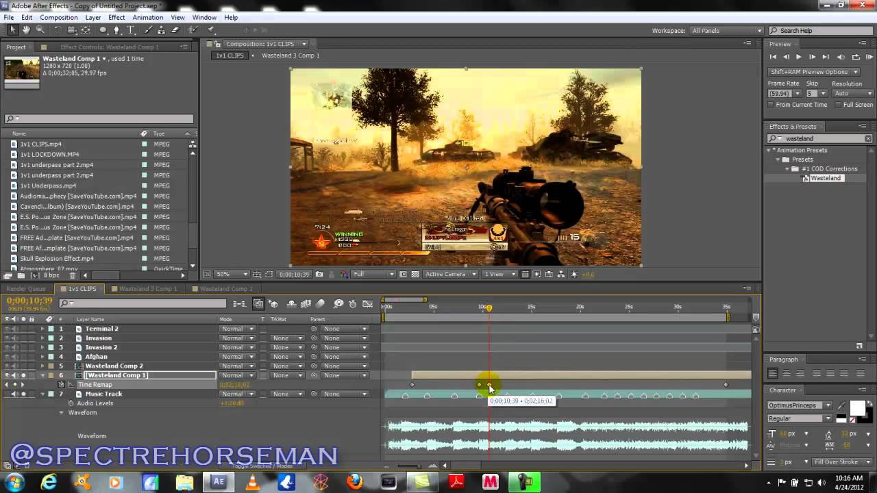 ae tutorial how to sync sniper shots and music tracks call of duty montage after effects. Black Bedroom Furniture Sets. Home Design Ideas
