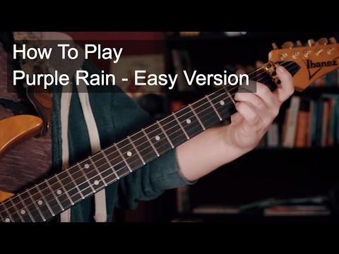Purple Rain Easy Chords - Prince Guitar Tutorial
