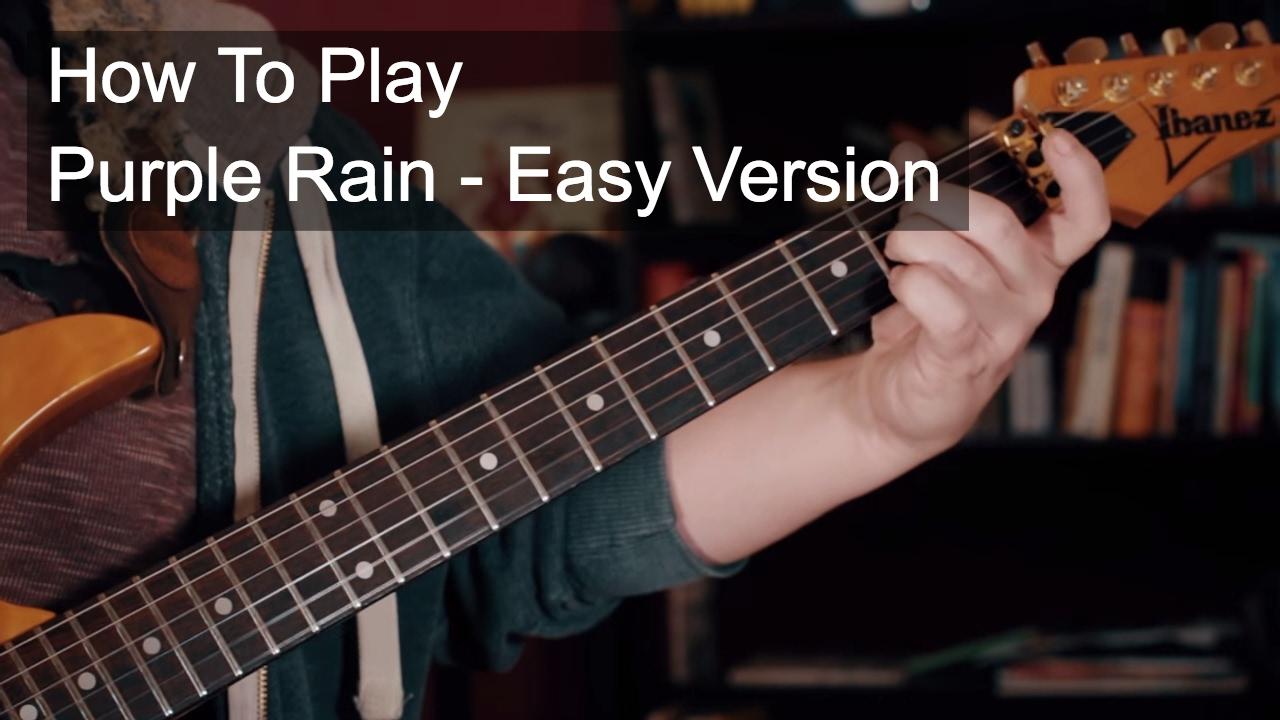 Purple Rain Easy Chords Prince Guitar Tutorial Youtube