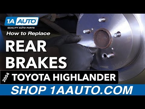 How to Replace Rear Brakes 04-07 Toyota Highlander