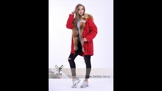 Красная парка с мехом лисы: ВИДЕО ОБЗОР