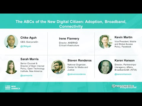 The ABCs of the New Digital Citizen: Adoption, Broadband, Connectivity