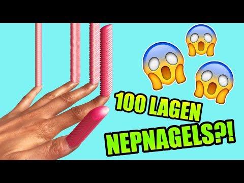 100 LAGEN NEPNAGELS CHALLENGE met TARA EN LARISSA VERBON