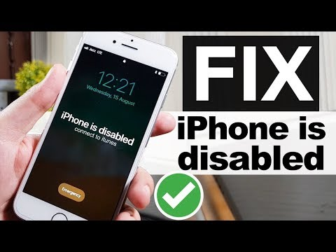 How To Unlock Disabled IPhone/iPad/iPod Without Passcode (NO DATA LOSS) FIX IPhone Is Disabled
