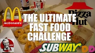 connectYoutube - THE ULTIMATE FAST FOOD CHALLENGE (8000+ CALORIES)