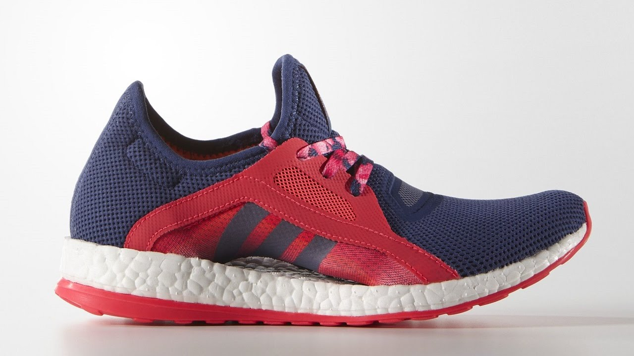 adidas pure boost x shoes raw purple shock red aq6680. Black Bedroom Furniture Sets. Home Design Ideas