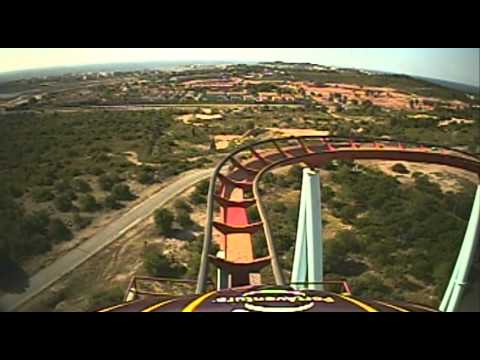 Dragon Khan AWESOME B&M Roller Coaster Front Seat POV Onride PortAventura Spain Port Aventura