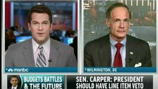 Senator Tom Carper on MSNBC Discussing the Federal Budget and Spending Cuts