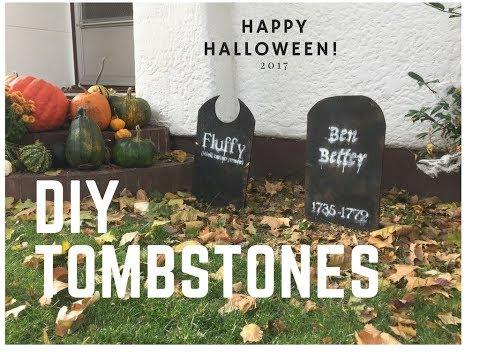 How to Make Halloween Tombstones!