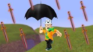 ROBLOX: TRY TO SURVIVE THE RAIN OF GIANT SWORDS! -Play Old man